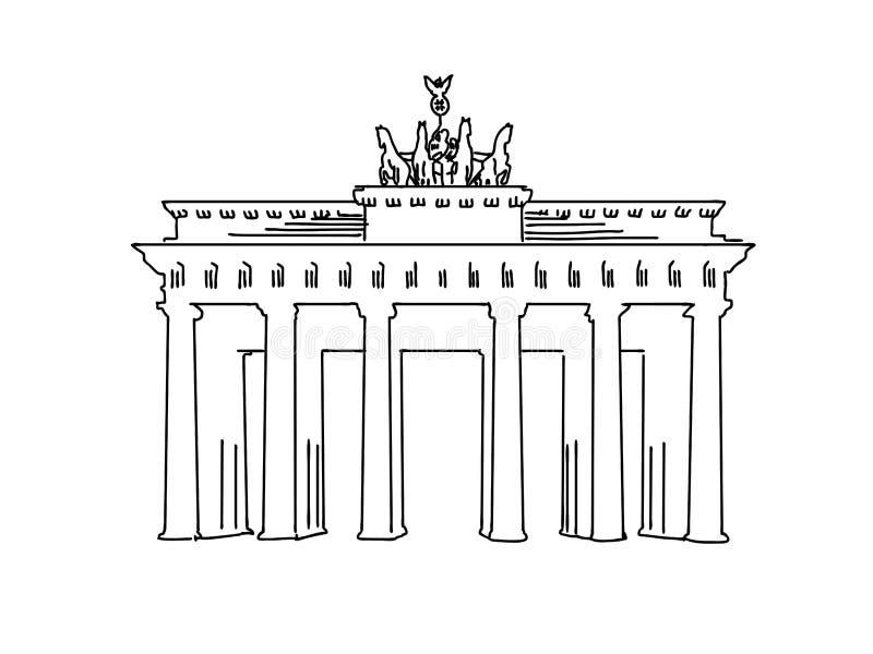 柏林,德国著名旅行剪影 库存例证