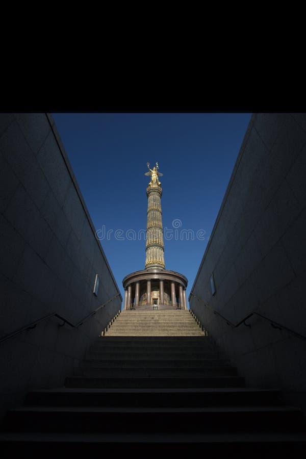 柏林,德国, 2017年8月9日, Siegessaule胜利专栏 图库摄影