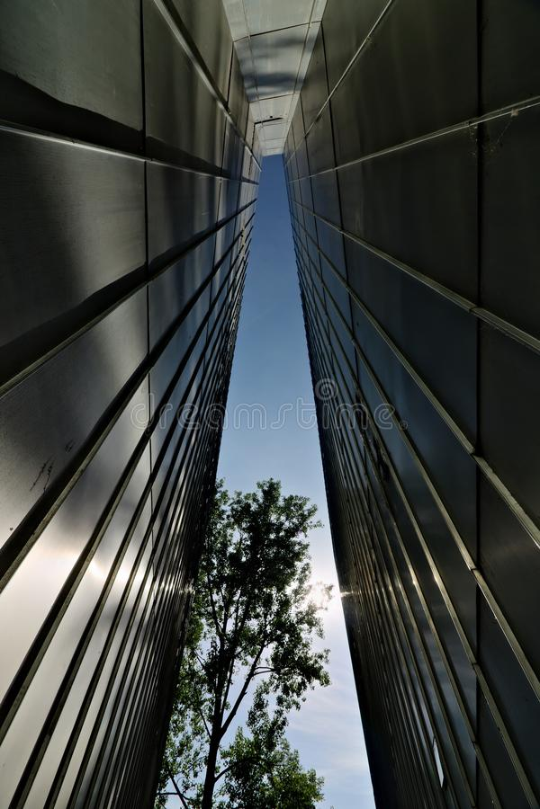 柏林,德国,2018年6月13日 JÃ ¼ disches博物馆 图库摄影