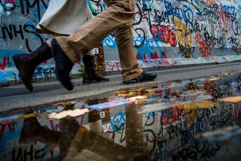 柏林,德国- 2015年9月21日:柏林围墙东边画廊 图库摄影