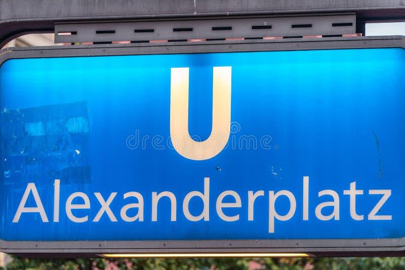 柏林,德国- 2016年7月23日:Alexanderplatz地铁S-Bahn 库存照片