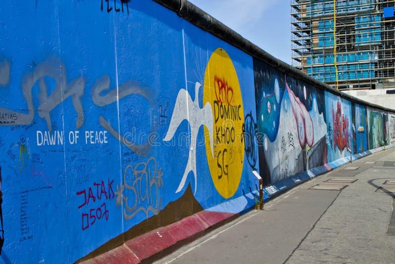 柏林围墙,德国 免版税库存图片