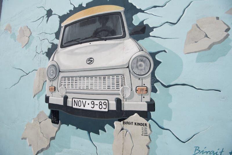 柏林围墙绘画 免版税库存图片
