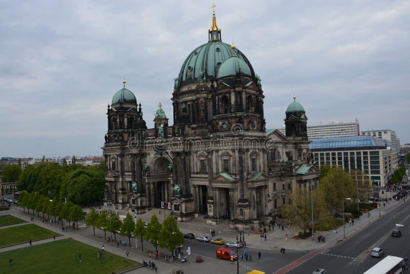 柏林Dom和电视塔在柏林 库存照片