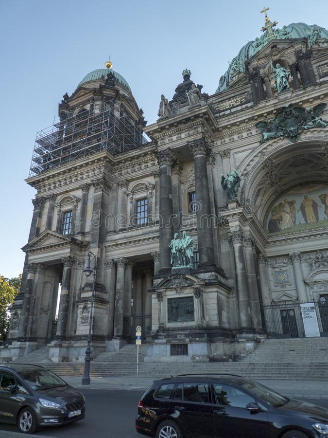 柏林Dom或柏林主教座堂,德国 库存图片