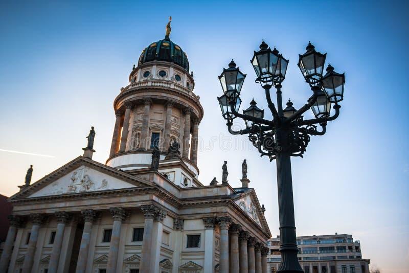 柏林gendarmenmarkt德国 德国大教堂 免版税图库摄影