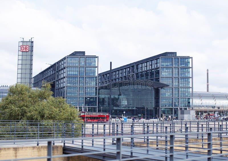 柏林hauptbahnhof 免版税库存照片