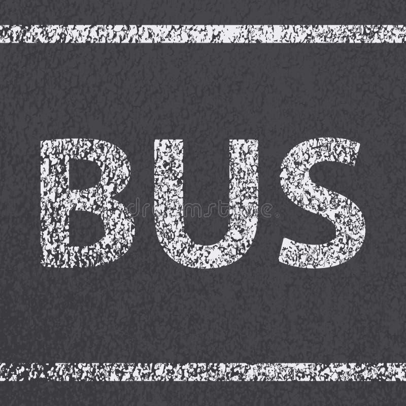 柏油路公共汽车 皇族释放例证
