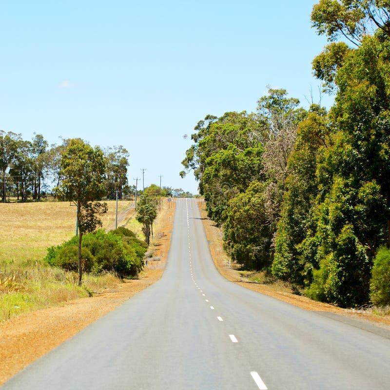 柏油路在澳大利亚乡区 免版税库存照片