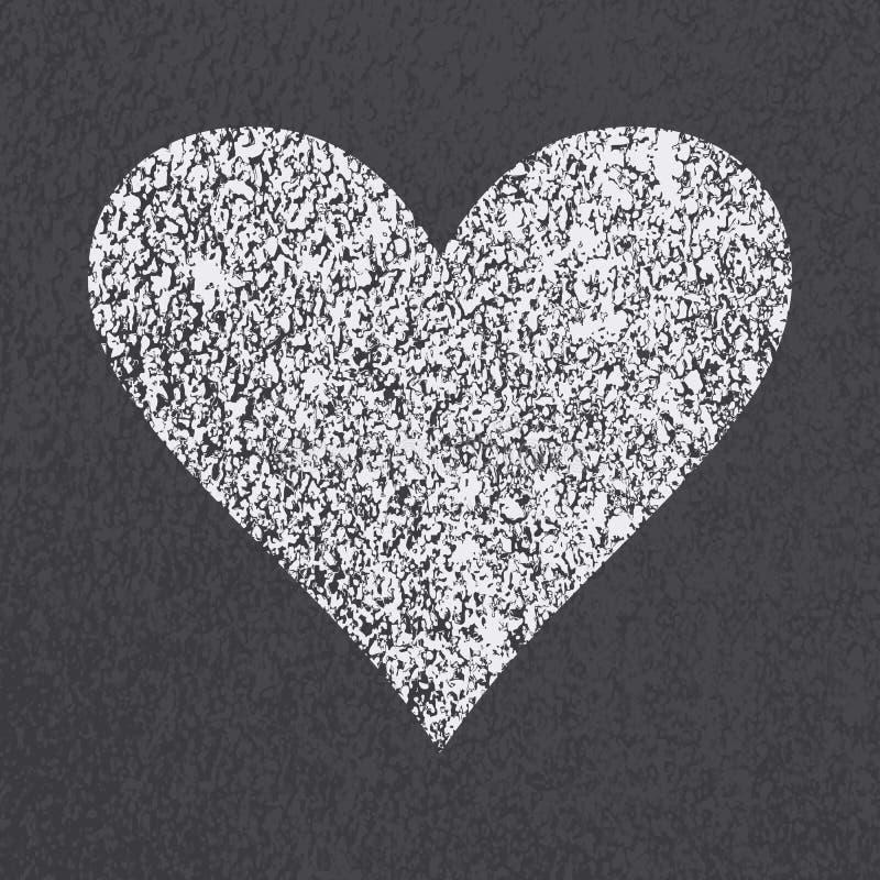 柏油路心脏标志 向量例证