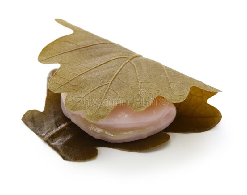 柏mochi,日本传统甜点 库存照片