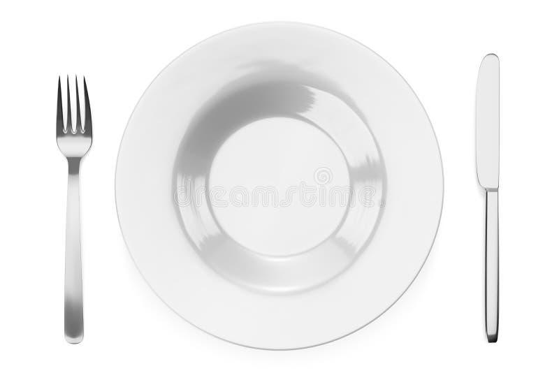 某一典型的样式餐具 向量例证
