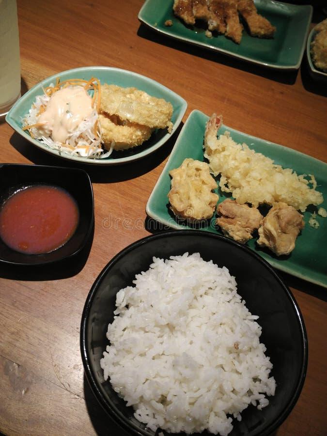 某一现代日本式晚餐 库存照片