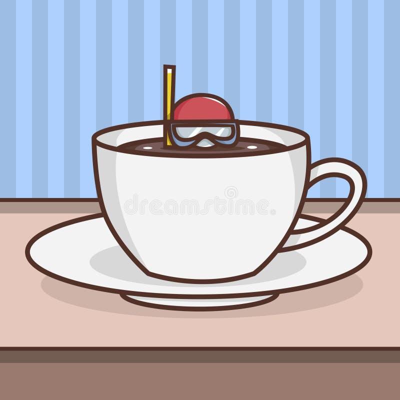 某事在您的咖啡 皇族释放例证
