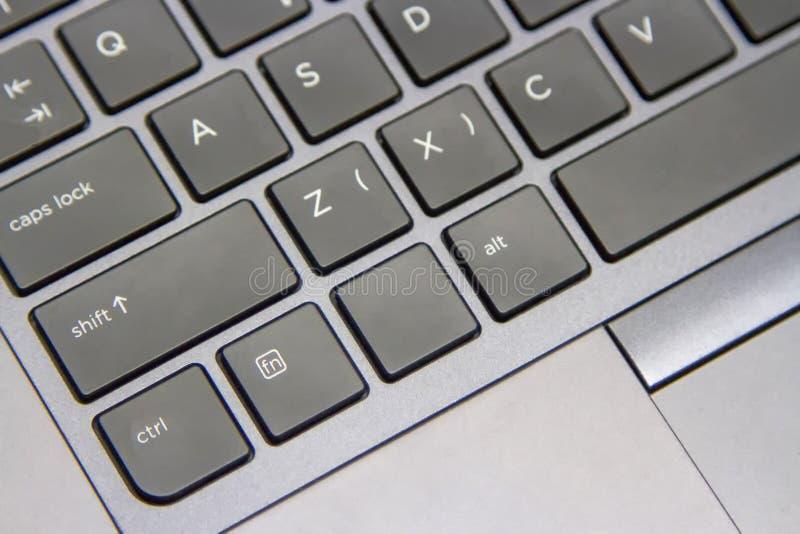 某些计算机键盘是灰色黑的 库存照片