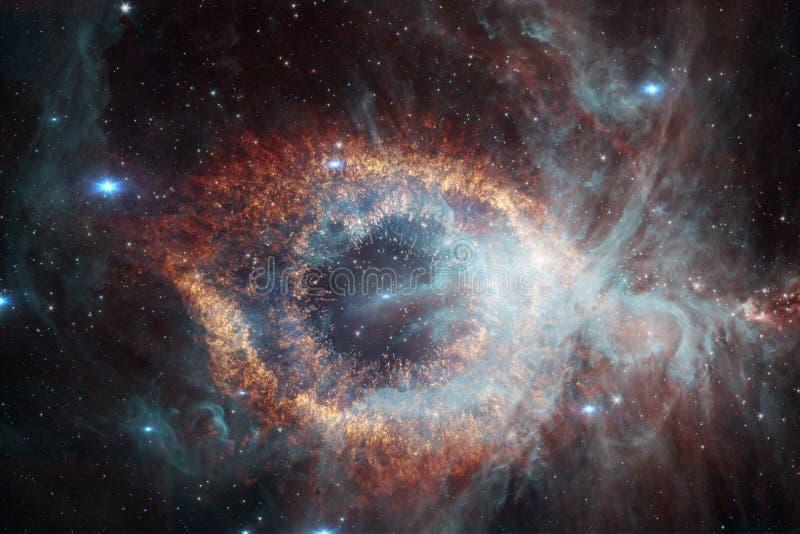 某处星系在外层空间 宇宙秀丽  库存图片