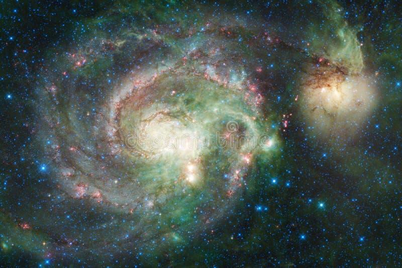 某处星系在外层空间 美国航空航天局装备的这个图象的元素 库存图片