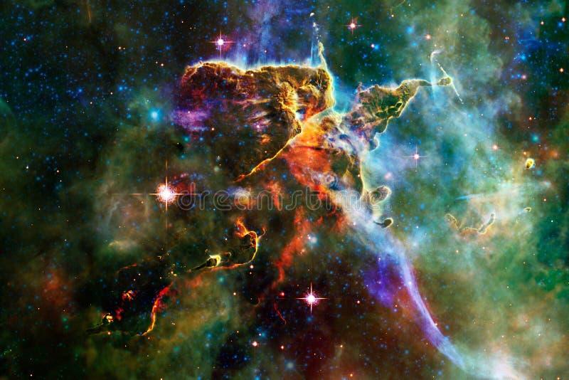 某处星系在外层空间 美国航空航天局装备的这个图象的元素 库存照片