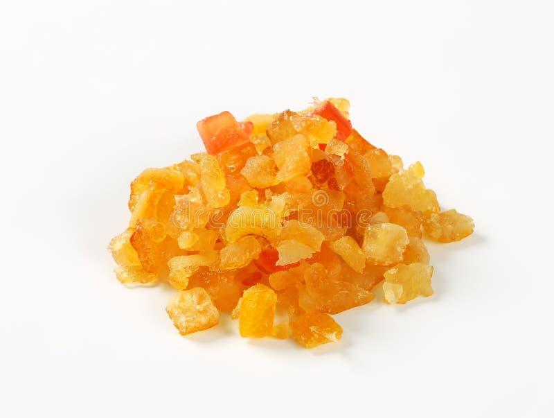 柑桔皮蜜饯 库存图片