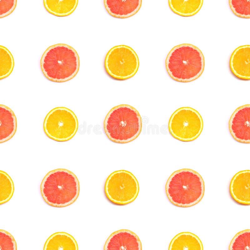 柑橘例证模式无缝的片式向量 免版税库存照片