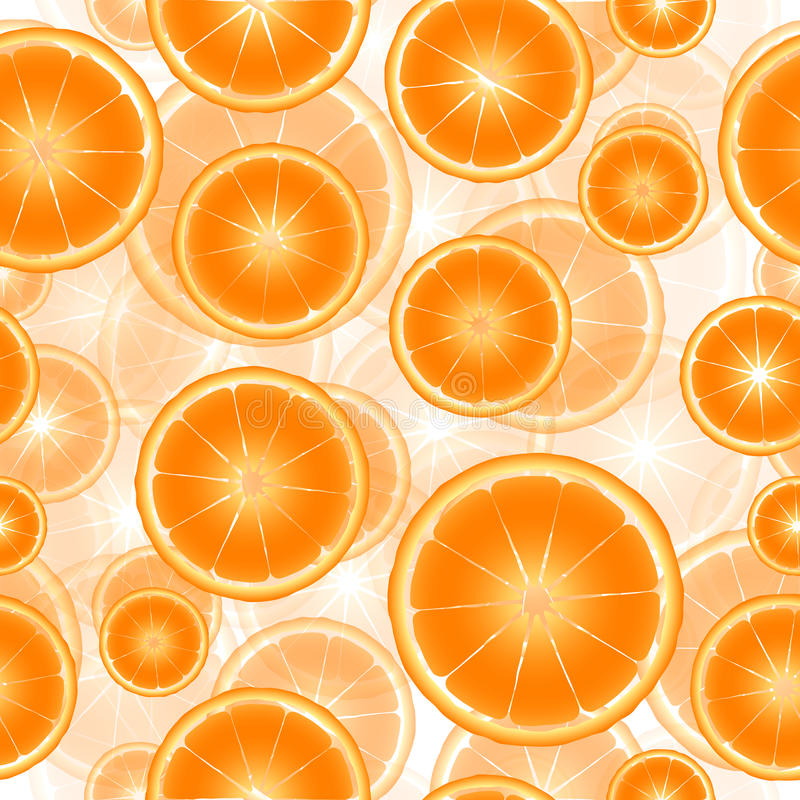 柑橘切无缝的样式背景 向量例证