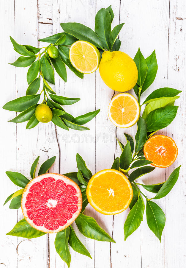 柑橘新鲜水果 免版税库存图片