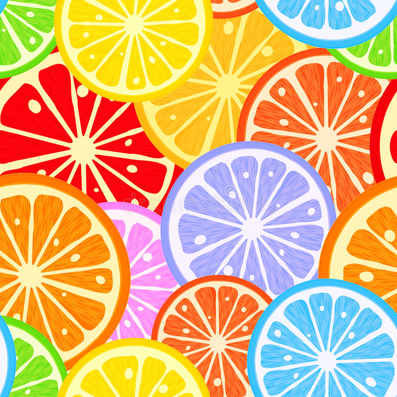 柑橘样式 向量例证