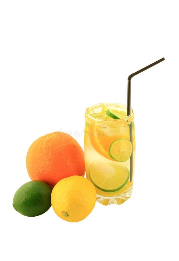 柑橘水果被灌输的水。 免版税库存图片
