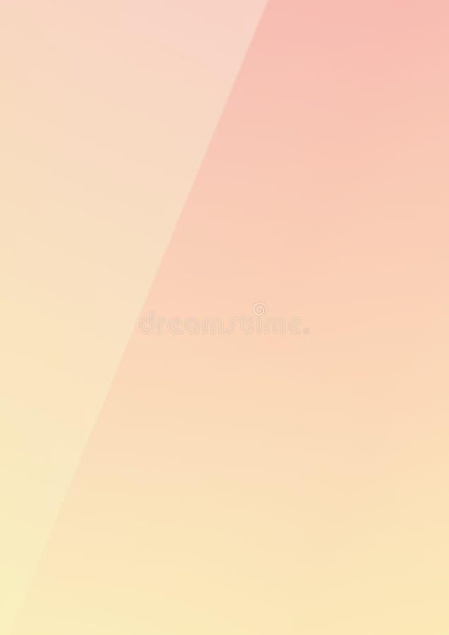 染黄混杂的颜色时髦纸backgro的垂直的梯度桃红色 向量例证