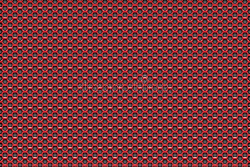 染黑与五边形的样式背景的红色 免版税库存图片