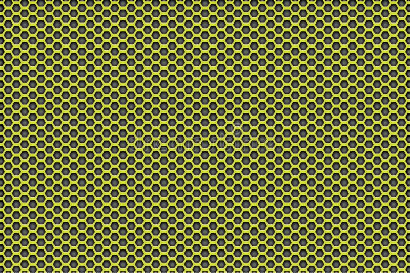 染黑与五边形的样式背景的黄色 免版税图库摄影