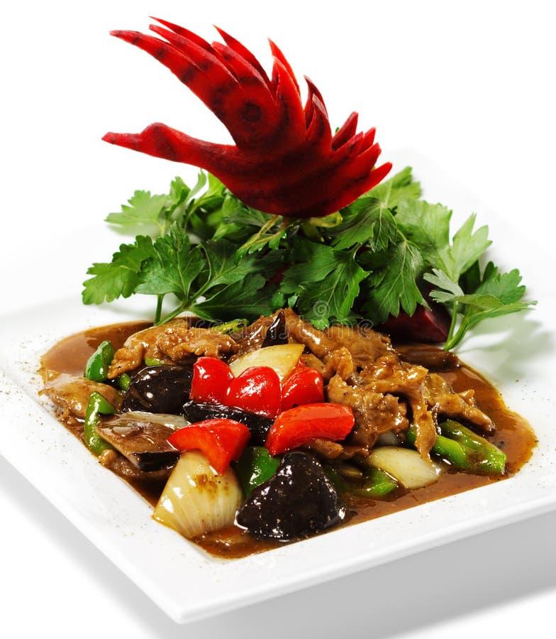 染黑中国真菌肉 免版税图库摄影