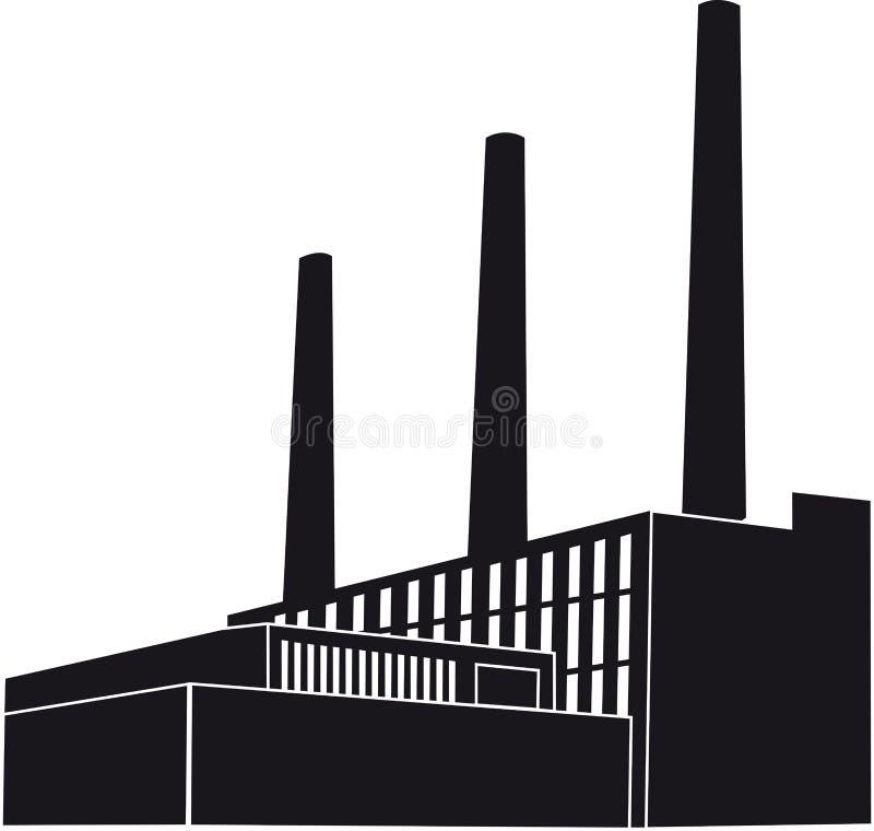 染黑工厂 向量例证