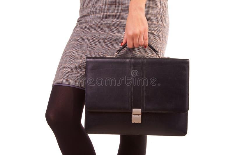 染黑皮革妇女 免版税库存图片