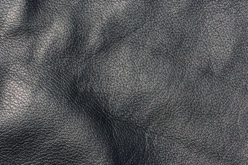 染黑皮革纹理 库存图片