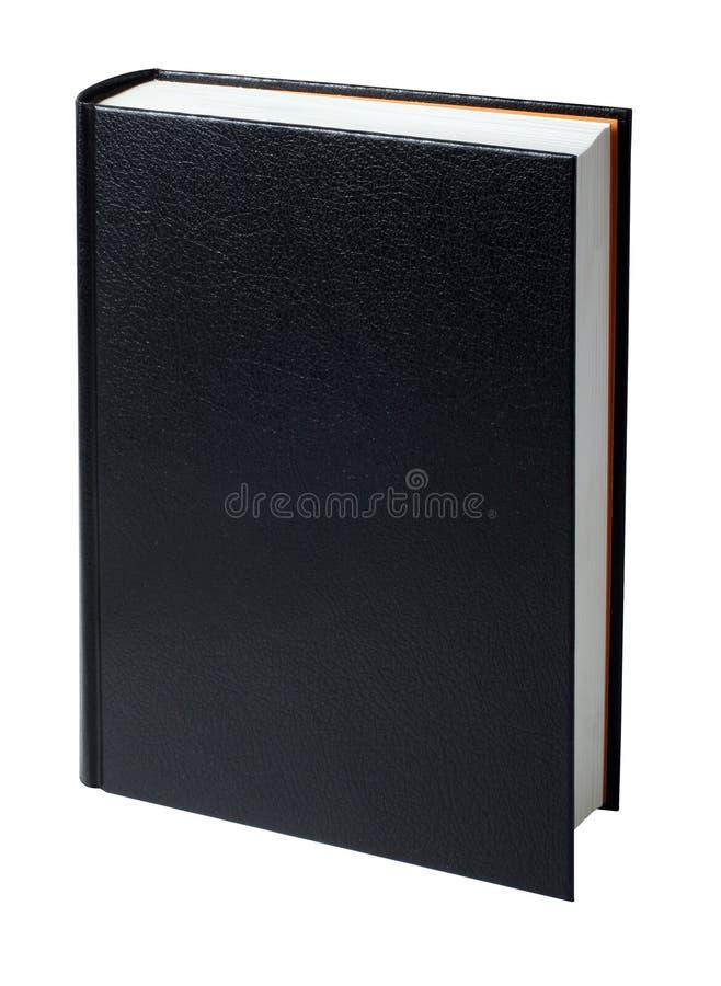 染黑空白书 库存照片