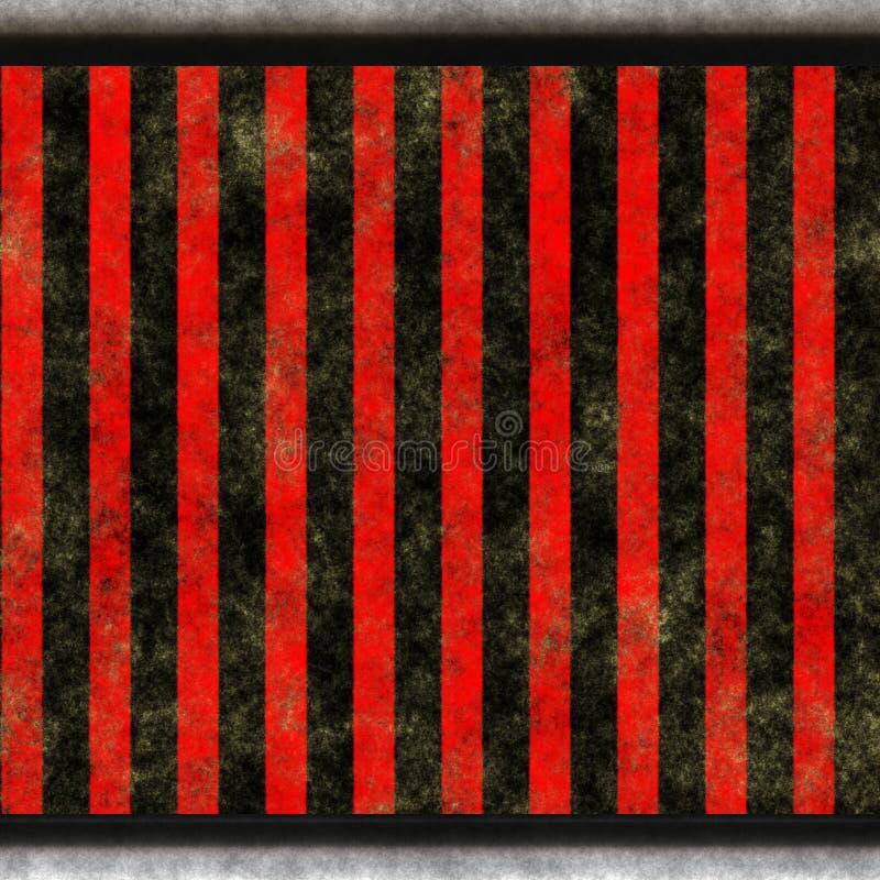 染黑红色平直的数据条 向量例证
