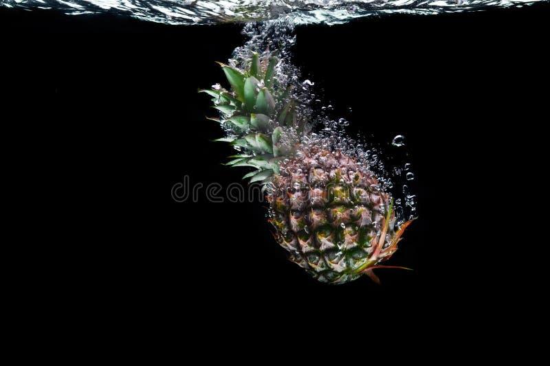 染黑菠萝 库存照片