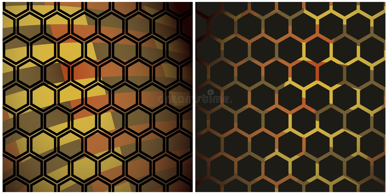 染黑蜂蜜 库存例证