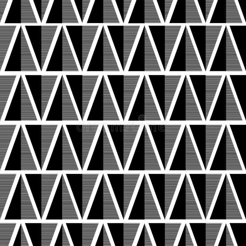 染黑模式无缝的白色 免版税库存照片