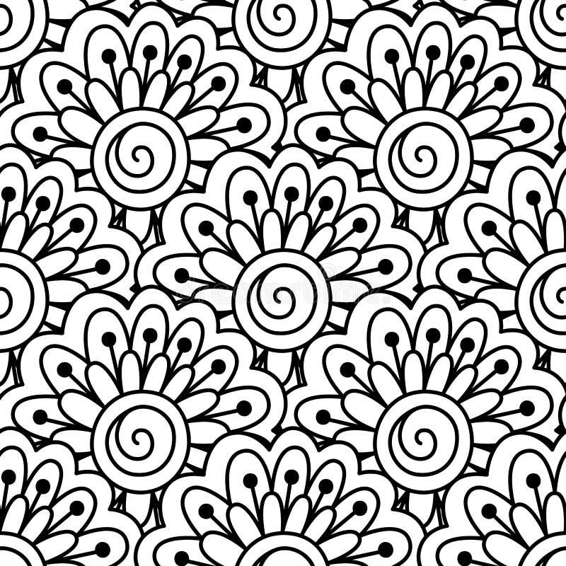 染黑模式无缝的白色 皇族释放例证