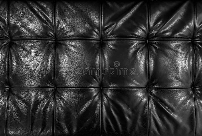 染黑皮革坐垫 库存照片