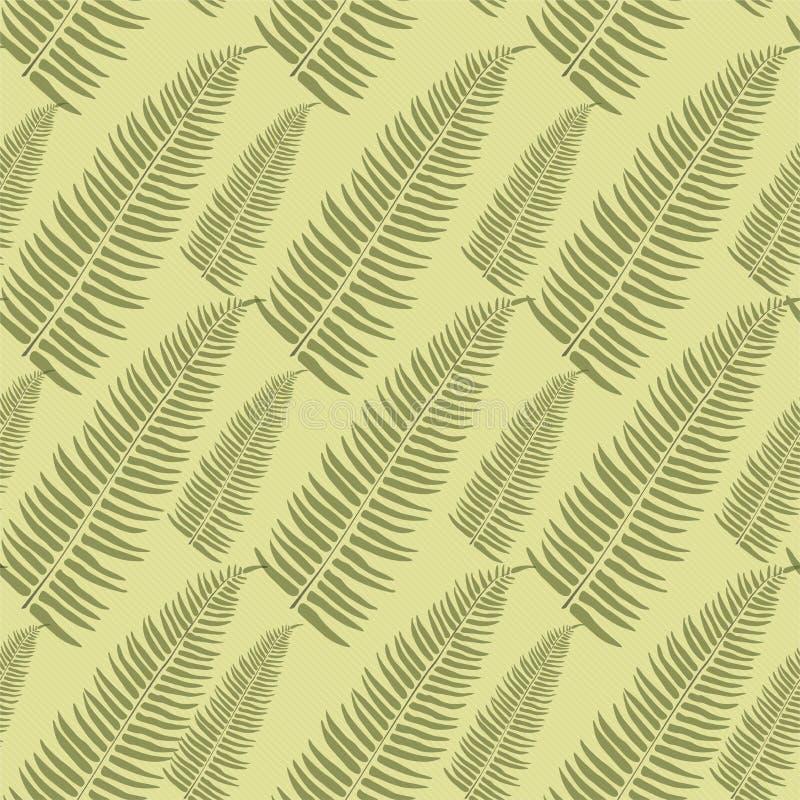 柔和的植物的构成 无缝的传染媒介样式背景14Botanical无缝的样式棕榈 背景盘旋橙色装饰品正方形向量 明亮花卉 向量例证