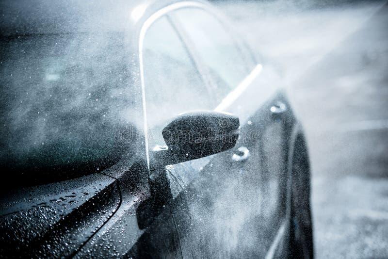 柔和的汽车洗涤物 免版税库存照片