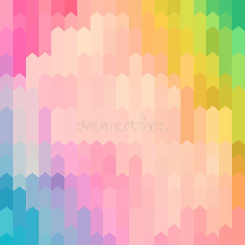 柔和的淡色彩色的抽象箭头样式背景 库存例证