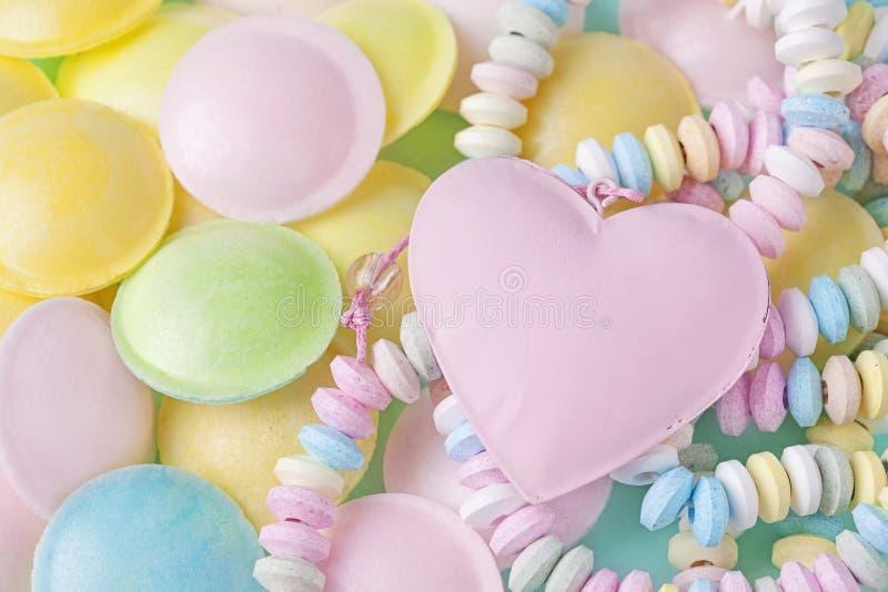 柔和的淡色彩色的甜点 免版税库存图片