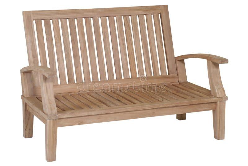 柚木树庭院家具,庭院家具,柚木树椅子 库存照片