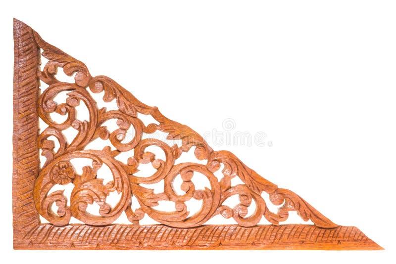 柚木树木头雕刻 免版税图库摄影