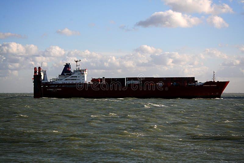 货柜船 免版税库存照片