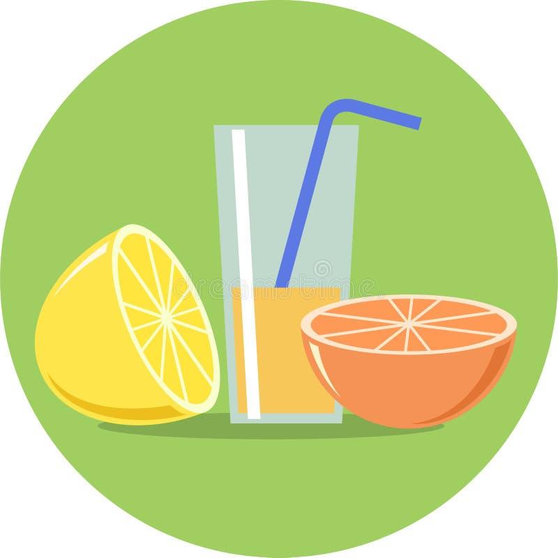 柠檬、桔子和汁液平的例证 皇族释放例证